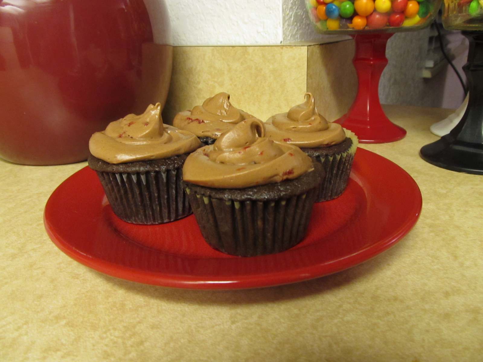 Chocolate Cherry Frosting Recipe | The Pink Apron