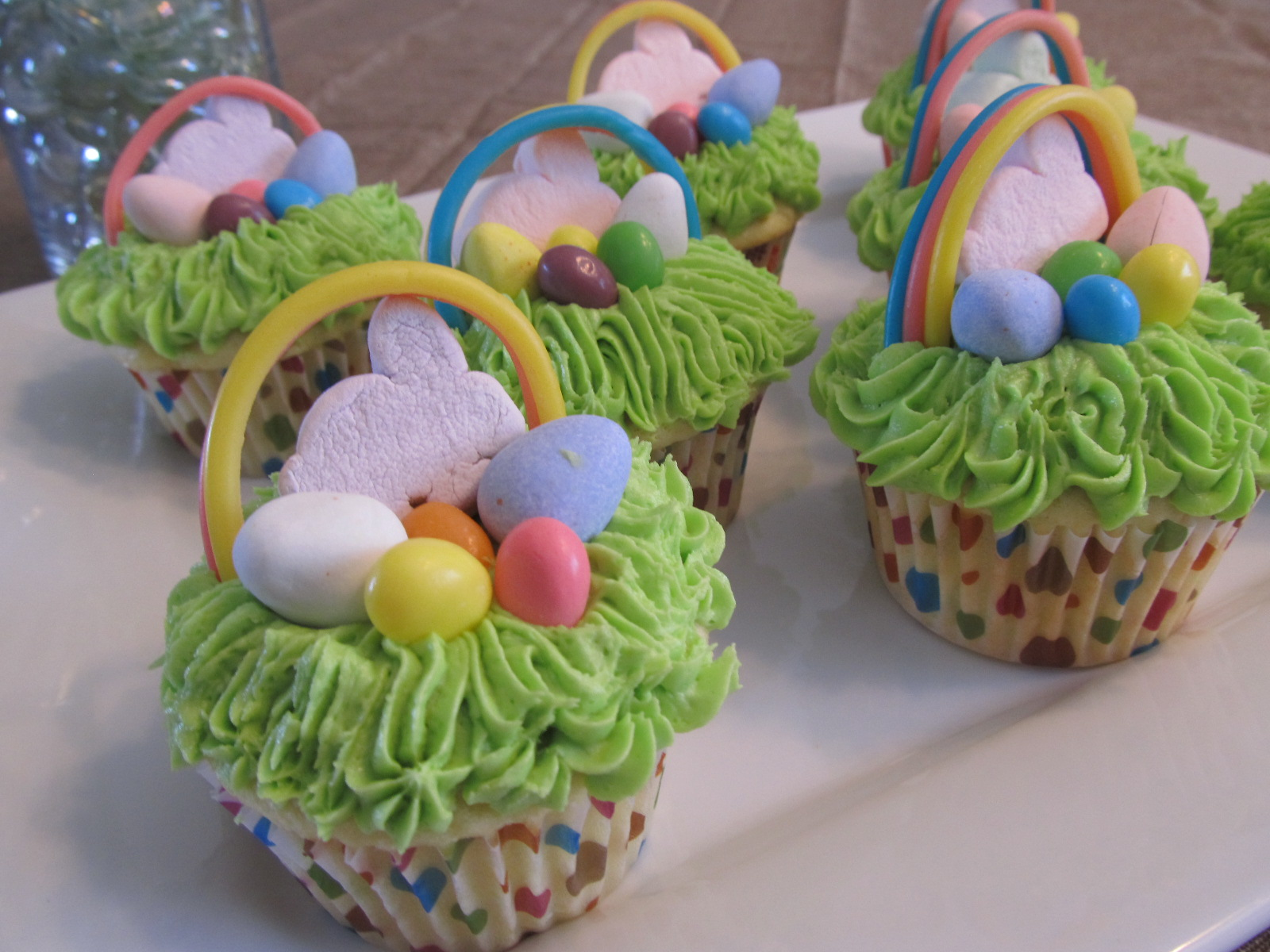 Easter basket cupcakes the pink apron easter basket cupcakes negle Images